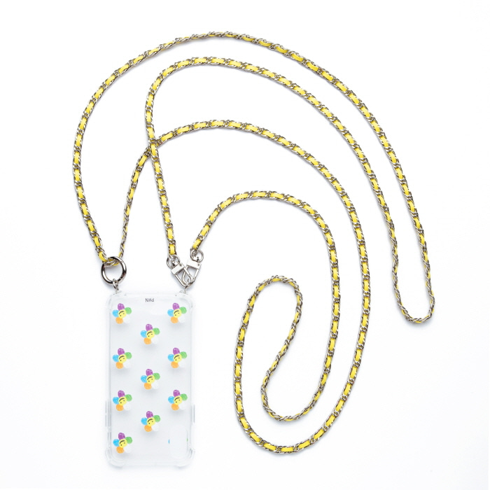 """SILVER YELLOW"" DOUBLE CROSS CHAIN"