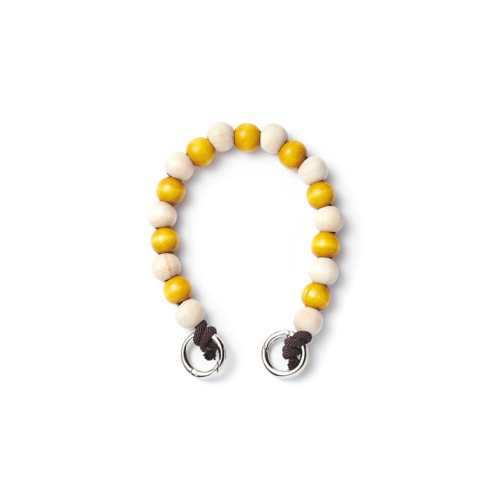 "YELLOW ""WOOD MIXED"" CHAIN ver.Short"